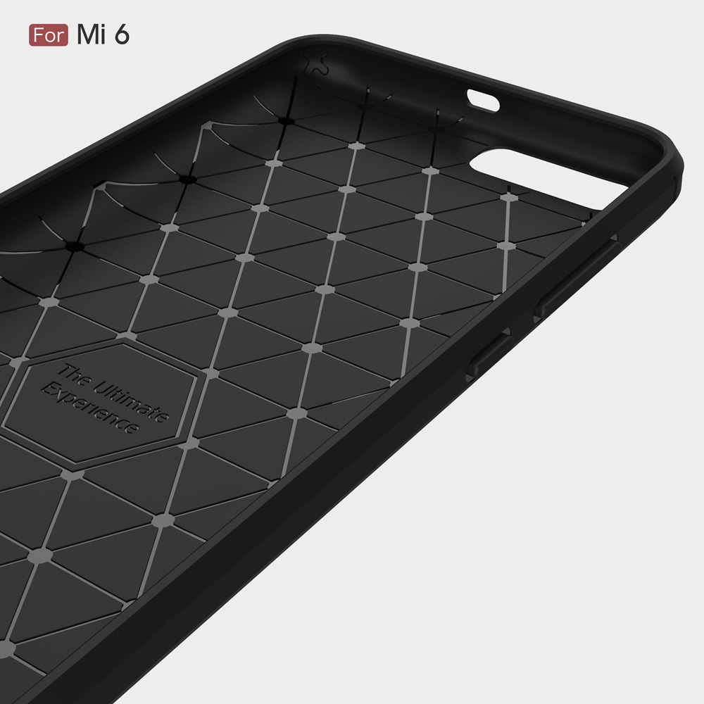 Xiaomi mi6 mi 6 arxa örtük üçün orijinal Carbon Fiber Soft TPU - Cib telefonu aksesuarları və hissələri - Fotoqrafiya 4
