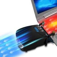 Strong Laptop Cooling Vacuum Fan External USB Silent Ice Notebook Cooler Digital Display Adjustable Smart Model
