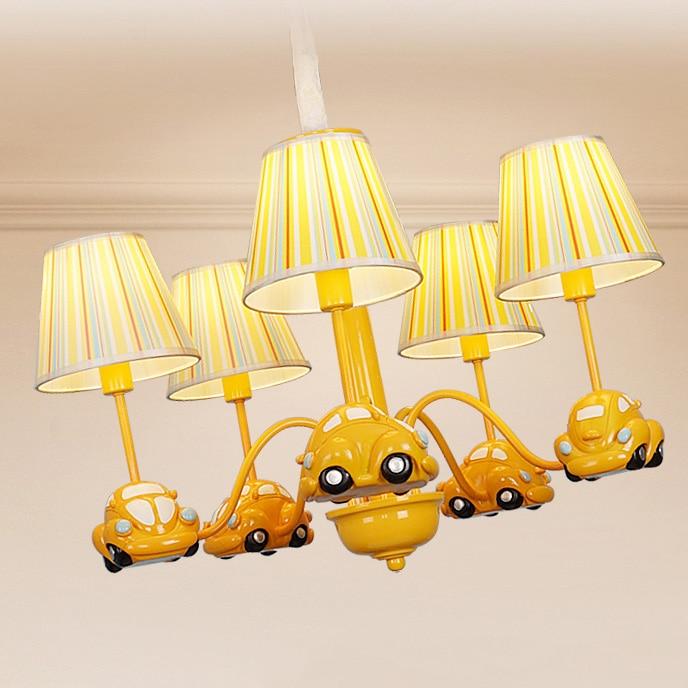 creative cartoon car pendant light art deco LED hanging lamp for boy children bedroom lamp fixture nursery Eye protection Lamp in Pendant Lights from Lights Lighting
