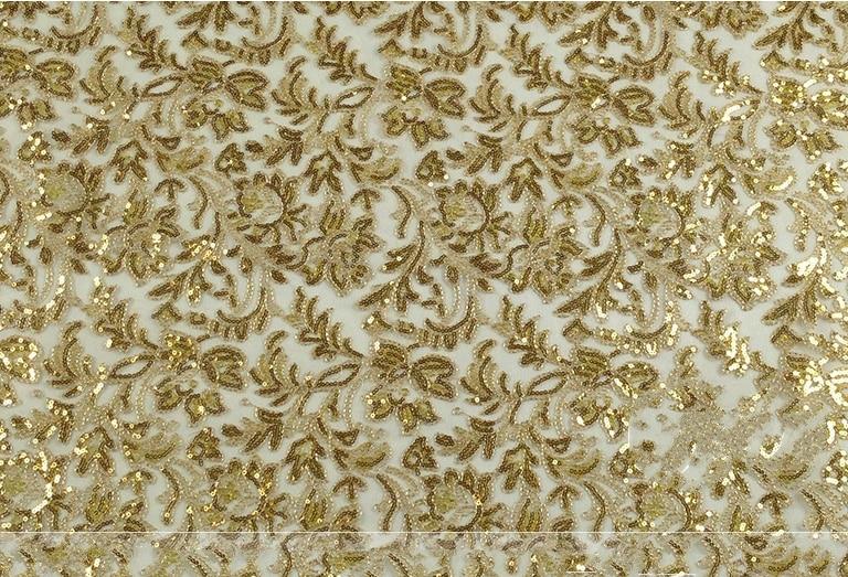 120cm Golden Sequin Fabric Meter For Dress Paillette