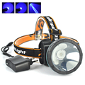 2016 New Plastica LED Headlamp Headlight Head Torch Lamp light  for Hunting Camping with Rechargeable Bluit in Lithion Battery