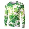 2016 Men/Women's 3D Sweatshirts Print Green Hemp Fimble Leaf  Weed Hoodies Crewneck Long Sleeve Pullover Hoody Tops Puls Size
