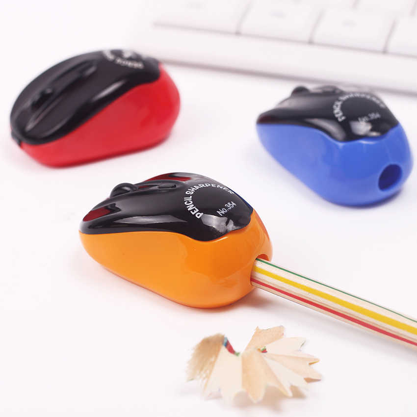 1PC Creative Stationery Mouse Plastic Pencil Sharpener Mechanical Pencil Sharpener for Office and School Supplies