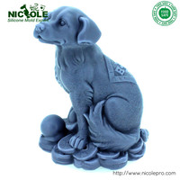 Nicole Silicone Soap Mold 3D Pig Dragon Dog Chicken Shaped 4PCS