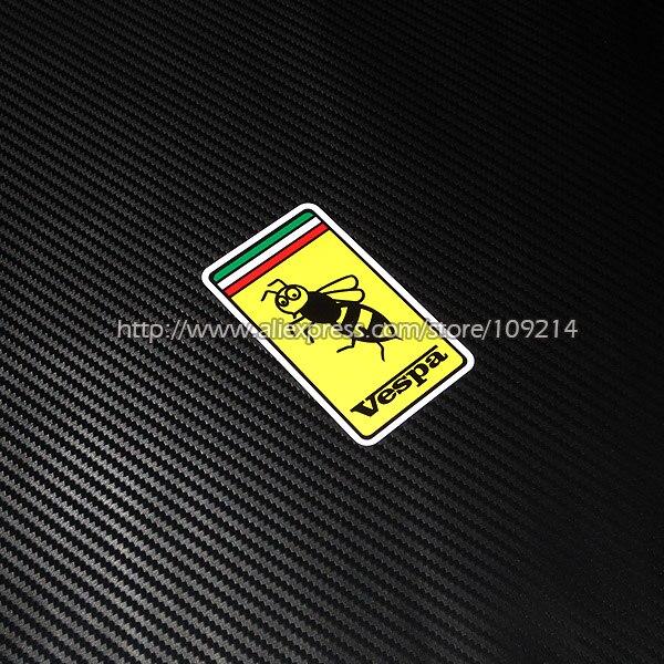 Hot sale Vespa PIAGGIO Helmet Motorcycle Reflective Sticker Decals Waterproof 19
