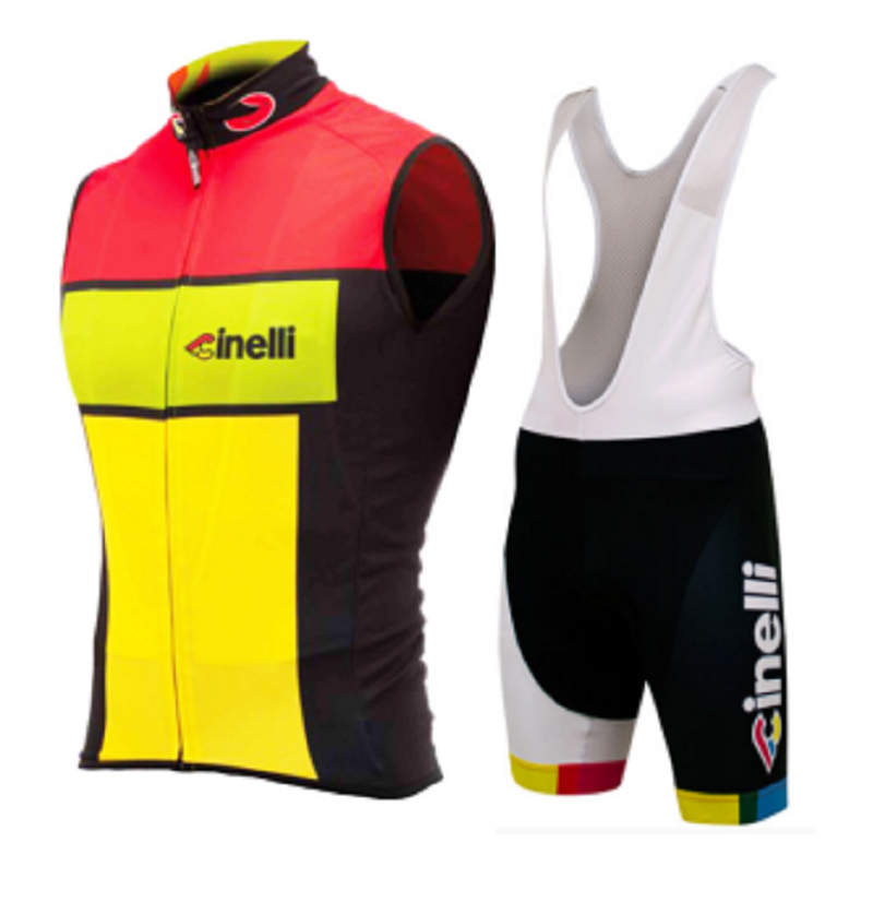 2019 Cinelli team Men Summer short sleeve cycling jersey bib shorts shirt set clothing MTB ropa ciclismo Breathable racing wear