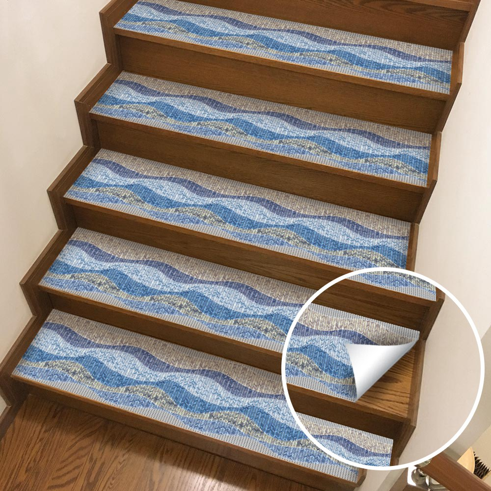 Image 2 - Hot Waterproof  Self Adhesive Stair Stickers,Removable Kitchen Self Adhesive Stair Stickers Tile Decals Wallpaper Stair Fl-in Wall Stickers from Home & Garden