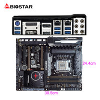 BIOSTAR Z170W Neue GAMING Motherboard RGB LED FÜR i7 7700 karat 6600 1151 ATX DDR4 Computer 10 Phase Super Stromversorgung Realtek + Mörder