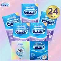 Durex suave sexo condón 20/24 piezas lubricante Extra vaqueros abrazo cerca de sexo seguro de caucho de látex Natural de pene condones para hombre