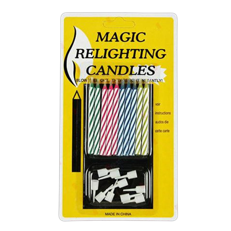 10Pcs/Pack Magic Relighting Candle Pranks Tricks Toys Party Cake Decorations
