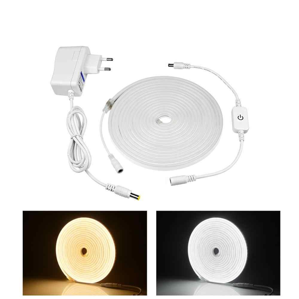 Lámpara de tira de luz de neón regulable con interruptor de atenuación táctil impermeable Flexible tira de cinta de luz LED diodo lámpara de decoración del hogar