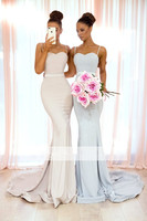 Backless 2019 Cheap Bridesmaid Dresses Under 50 Mermaid Spaghetti Straps Long Wedding Party Dresses For Women