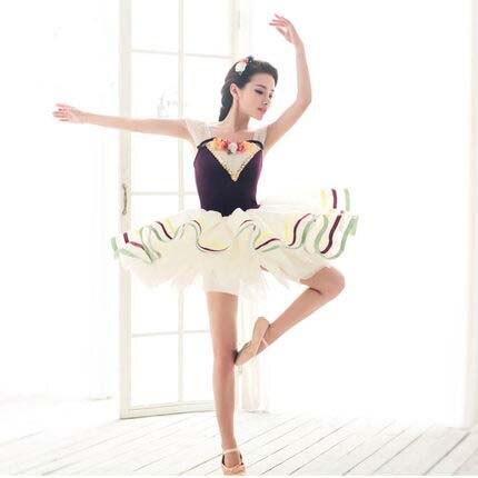 Enfants à fille Ballet effectuer costume, nouvelle scène d'été Ballet Costume élégant violet cygne lac danse porter enfants Tutu
