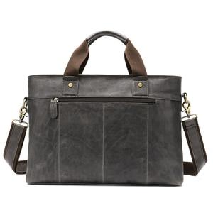 Image 2 - WESTAL Large Leather Briefcases Mens Genuine Leather Briefcase for Laptop 14 Messenger Bag Men Laptop Bags Office/Work Bag 8520
