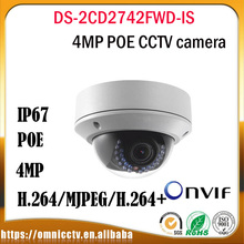Hikvision CCTV IP camera DS-2CD2742FWD-IS Varifocal POE P2P Onvif H265 2.8 12mm IR Night version Security Surveillance camera