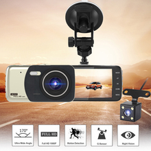 DVR два видеорегистратора 4 дюйма авто Камера объектив видео Full HD 1080 P видеорегистратор заднего вида приборной панели Камера регистратор с ночным видением