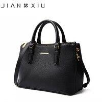JIANXIU Brand Genuine Leather Handbag Luxury Handbags Women Bags Designer High Quality Cross Texture Shoulder Bag 2018 Big Tote