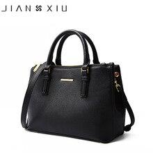 JIANXIU marki prawdziwej skóry torebki luksusowe torebki damskie torby projektant wysokiej jakości krzyż tekstury torba na ramię 2018 duża