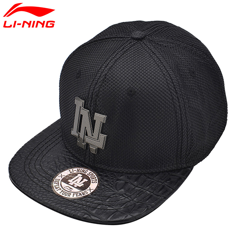 Li-Ning Running Caps for Women and Men Solid Adjustable Sunshade Polyester LiNing Sports Unisex Baseball Hat AMYM026 L870
