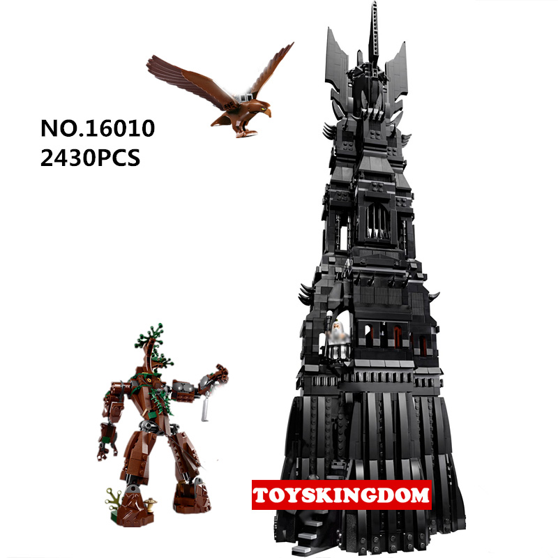 Classic movie scenes Lord of Ring Hobbit the tower of orthanc building block wizard figures assemble brick 10237 toys collection