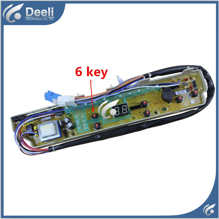 98% new Original good working for Sanyo washing machine board XQB65-M7251 motherboard 6 key on sale free shipping 100% new and original for washing machine board sc11210492 ncxq qs492fb q 207 qs492 1fb motherboard good working