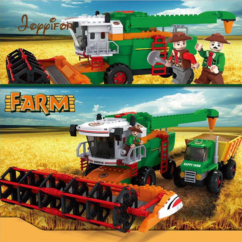 Joyyifor 565pcs Farm Harvester Building Blocks Assembled Granules Action & toy Figures LegoINGlys Educational Toys for Children цена