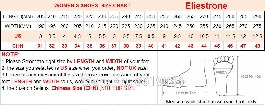 Size chart for Eliestrone