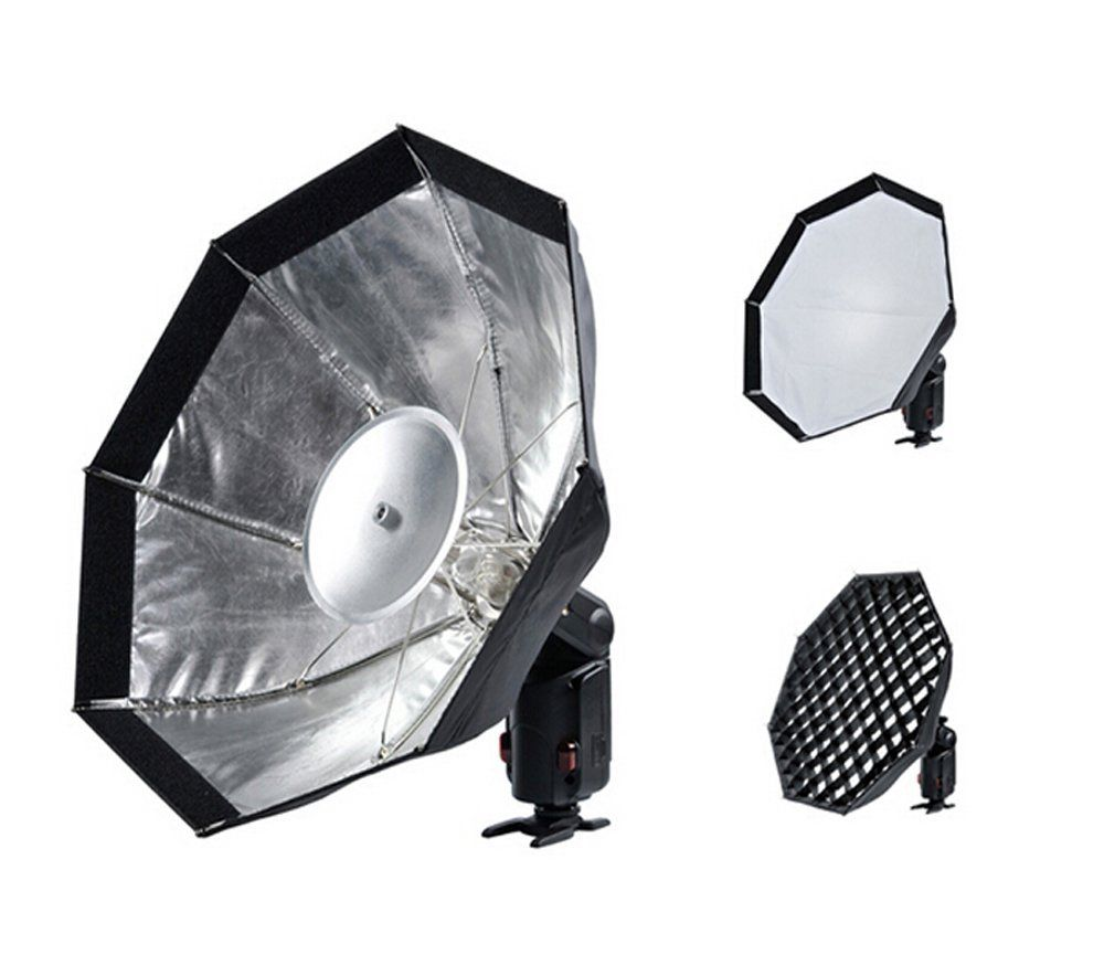 Godox AD-S7 Multifunctional Soft Box Octagonal Honeycomb Grid Umbrella Softbox for WITSTRO Flash Speedlite AD180/AD360 godox ad360 camera outdoor shooting flash kit ad 360 360w flash ft 16 wireless trigger ad s17 diffuser 60 60cm softbox