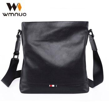 Wmnuo Bolsa de Ombro Homens 2018 Novos Homens de Couro Genuíno Macio Bolsa Crossbody Bag Moda de Alta Qualidade Bolsa de Negócios De Couro Cowhid
