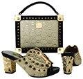 Moda Sapato Africano e Saco de Harmonização Definir Sapato De Casamento Africano e saco Define As Mulheres de Sapato e Bolsa Para Combinar para Festas PUW1-20