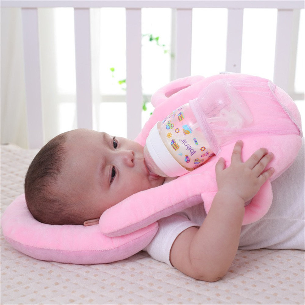Multi-function Useful Anti Roll Prevent Flat Head Pad Cushion Infant Nursing Pillow Baby Head Protective Milk Feeding Pillow