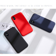 NEW Simple Solid Color Silicone Phone Case For iPhone 6 6s 7 8 Plus Cute Candy Color Soft Back Cover For iPhone XS Max X XR Case