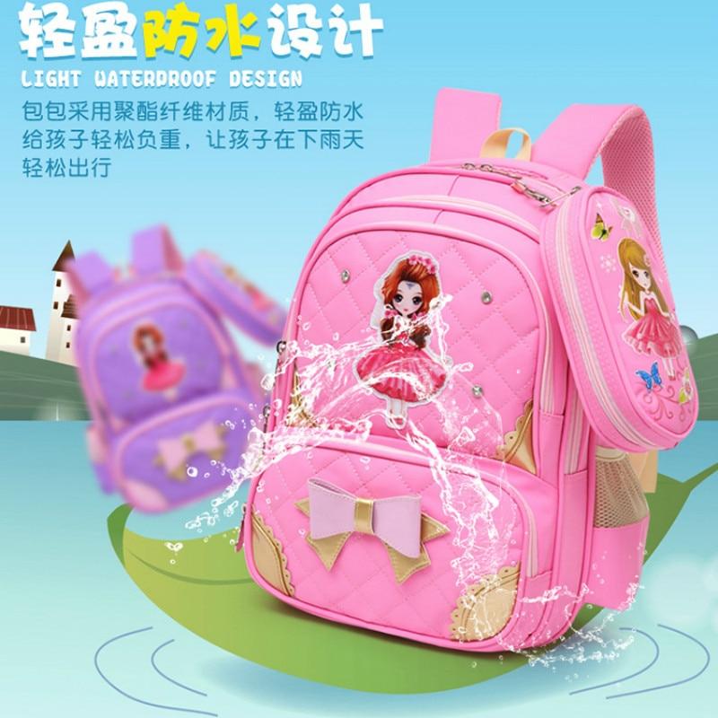 Orthopédique Dos purple Mochila Sac Enfants Pink Pour Les Infantil Red rose Cartable École De L'école Primaire Ensemble Filles À Sacs 6T8nTwt