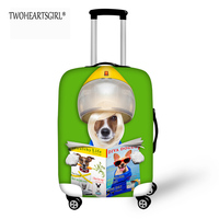 TWOHEARTSGIRL Beauty Dog Designer 18 20 22 20 24 28 Inch Travel Luggage Protective Cover Elastic
