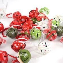Decorazioni di natale 30pcs vari in metallo jingle bell offerte speciali per la casa 40 millimetri * 35 millimetri albero Di Natale ornamenti colori casuali