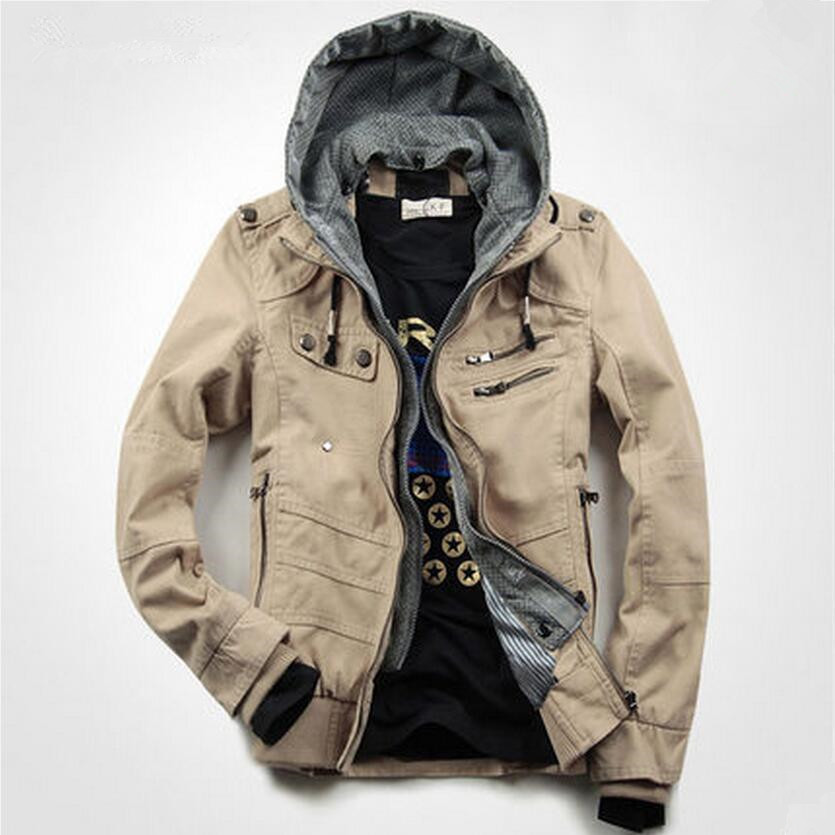 2017 New Style Men's winter jacket tops casual denim outerwear with hooded jacket autumn winter coat Winter Warm Jackets Coats