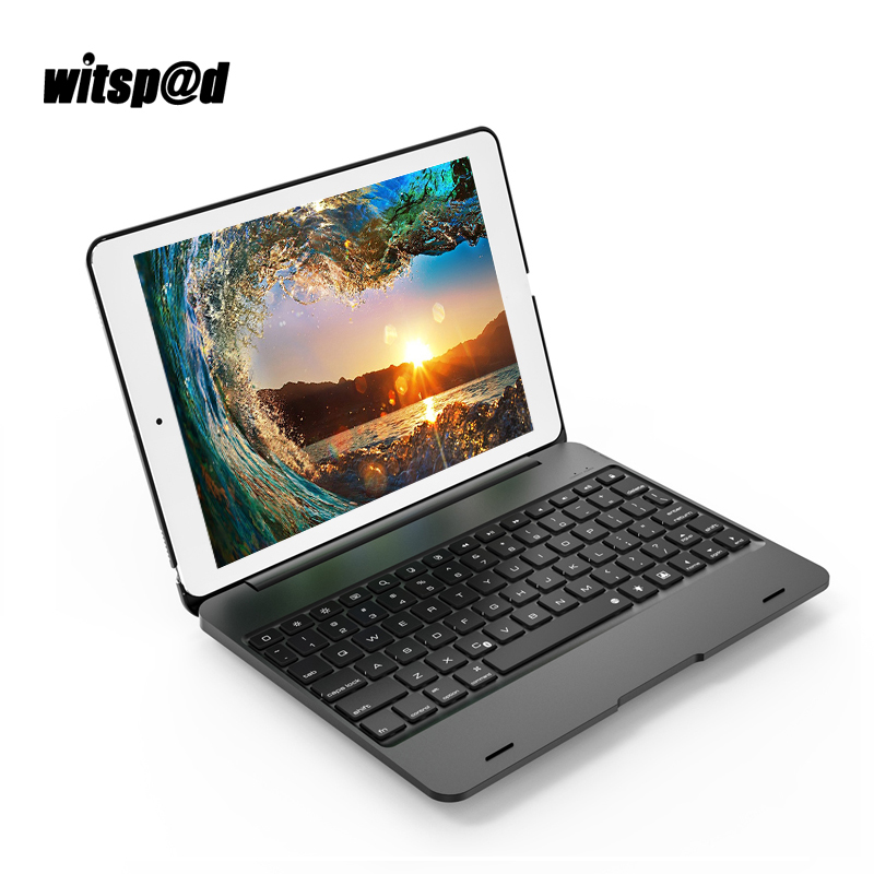 Witsp@d 2018 Luxury Bluetooth Keyboard Wireless for iPad Air Tablets for iPad Air 2 Case with Keyboards for iPad New 2017 A1893 bluetooth v2 0 wireless 78 key keyboard for ipad ipad 2 the new ipad white silver