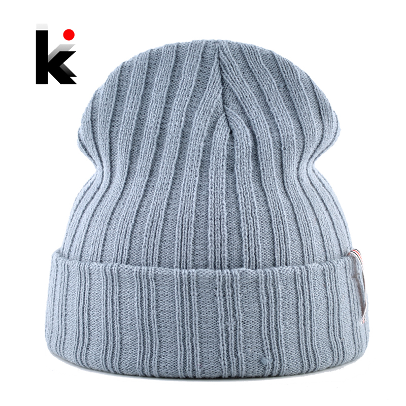 Solid   Beanie   Soft Knitted Hats For Men Women Autumn Winter Unisex   Skullies     Beanies   Fashion Hip Hop Gorros Caps 11 Colors Hat