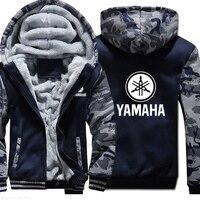 Winter New men Thicken Plus velvet YAMAHA Sweatshirt Long Sleeve men warm jacket Fashion Casual Coat Clothing