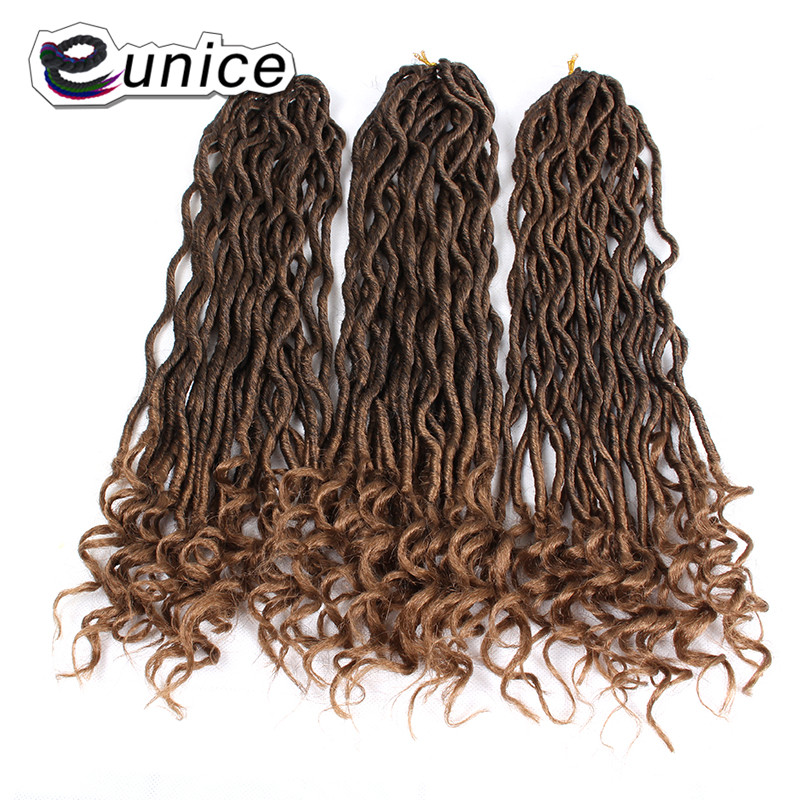 Faux Locs Curly Heat Resistant Synthetic Hair Extensions (23)