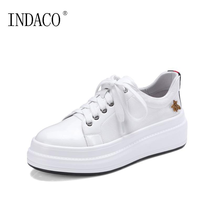 INDACO 2019 femmes baskets cuir blanc chaussures femme chaussures mode 34-40 - 2