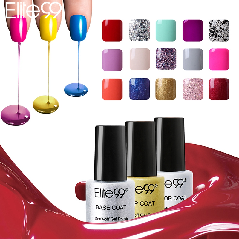 Candy Color Nail Polish: Elite99 Nail Gel Polish UV&LED Candy Color 58 Colors 7ML