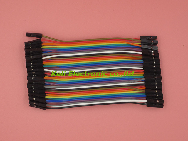 Free Shipping 1lot=40pcs/lot 10cm 2.54mm 1pin female to female jumper wire Dupont cable new original
