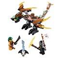Phantom ninja dragón de la tierra figuras figuras de acción conjunto de bloques de bloques de construcción para niños regalos juguetes compatible con lego