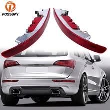 цена на Red LED Light Rear Lower Bumper Tail Light Reverse Stop Brake  Parking Fog Tail Lamp Fit for Audi Q5 2009-2016 Warning Lights