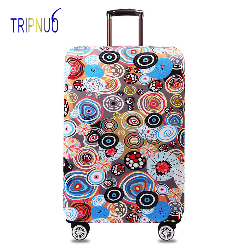 TRIPNUO Elastic Fabric Illustration Luggage Protective Cover, Suitable18-32 Inch ,Trolley Case Suitcase Cover Travel Accessories