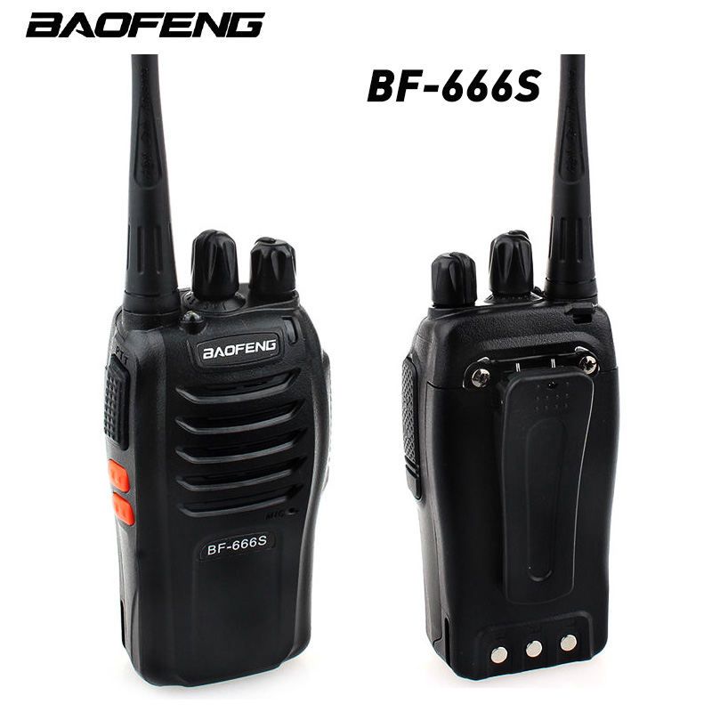 2PCS Baofeng BF-666S Walkie Talkie Portable Radio BF-666s 5W 16CH UHF 400-470MHz BF 666S Comunicador Transmitter Transceiver
