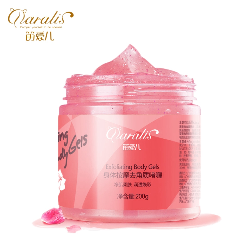 Daralis 200G Rose Body Scrub Whitening Exfoliating Gel Deep Clean Peeling Lotion Dead Skin Remover Cream Moisturizing For Body