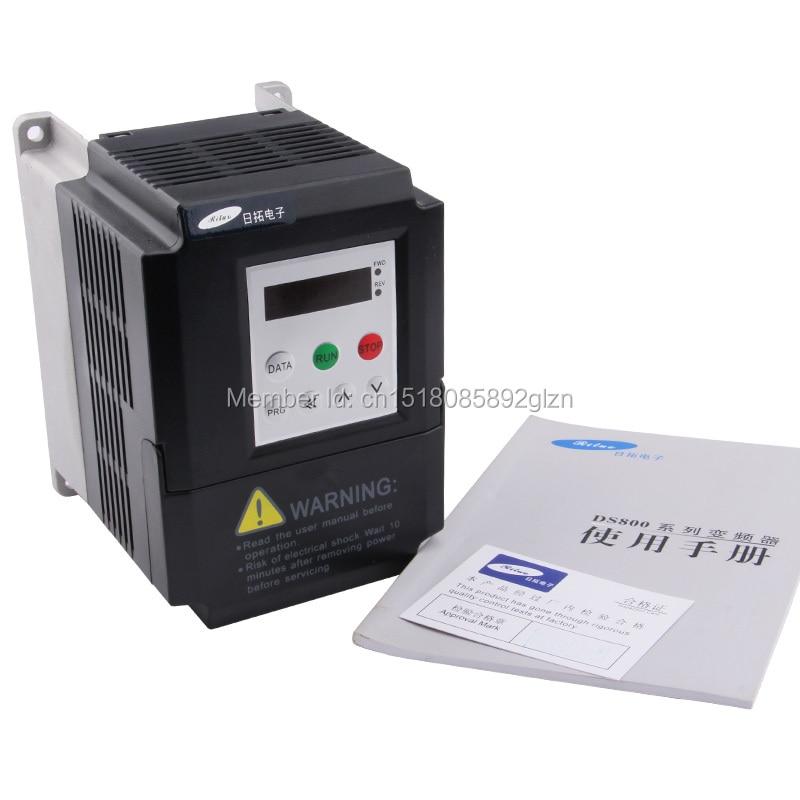 RITUO 1.5KW VFD convertidor de frecuencia de 220v 1.5kw VFD Variador - Piezas para maquinas de carpinteria - foto 5