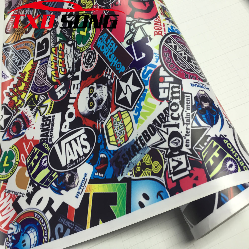 New arrival hd 057 premium bomb vinyl sticker for car wrapping bomb graffiti car sticker bomb vinyl wrap film for motorcycle